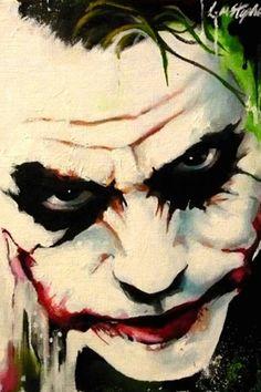 Joker abstract by sullen-skrewt on deviantART~~~~wicked Der Joker, Heath Ledger Joker, Joker Art, Joker Painting, Oil Painting Abstract, Painting Canvas, Joker Face Paint, Comic Books Art, Comic Art