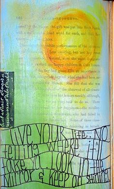 song lyric quote inspired this art journal page.