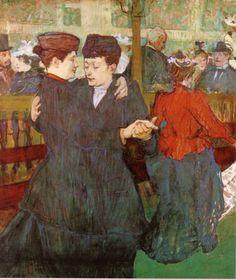 Henri De Toulouse-lautrec Two Women Dancing at the Moulin Rouge 1892