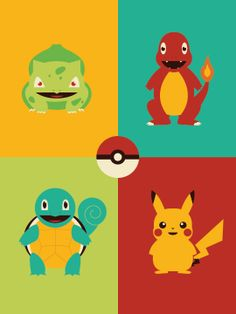 Video Game Character Illustrations by Andrew Heath - Pokemons