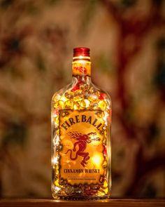 Fireball Whiskey Lamp by LibationLight on Etsy, $64.95