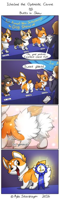 Ichabod the Optimistic Canine :: Butts in Show   Tapastic Comics - image 1