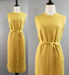 SALE 1960s Scottish Cashmere Belted Sweater Dress  by Pepperfields, $65.00