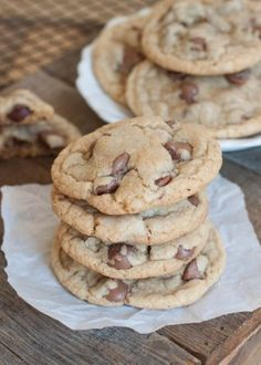 Big Soft Baker Style Chocolate Chip Cookies | Boys Ahoy