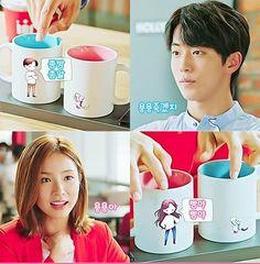 Bride of the Water God couple cups Shin Se Kyung, Lee Sung Kyung, Nam Joo Hyuk Wallpaper, Korean Drama Romance, Bride Of The Water God, Good Morning Call, Age Of Youth, Itazura Na Kiss, Nam Joohyuk