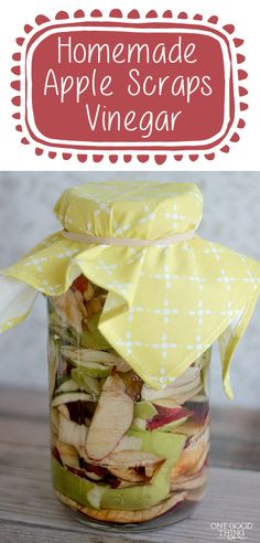 You can make your own Apple Cider Vinegar using leftover apple scraps!