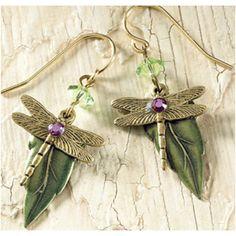 dragonfly earrings.