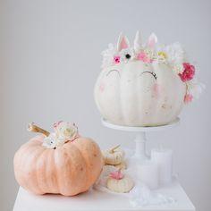 Pretty Floral Unicorn Pumpkin Party