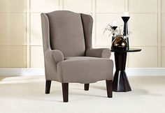 Sure Fit Slipcovers Stretch Brixton Wing Chair Slipcovers - Wing Chairs
