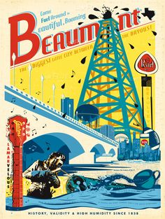Check Out These Vintage-Style Posters for Small Town Texas | Texas Standard