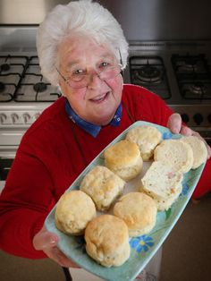 CWA Geelong judge Margaret Primmer with prize-winning scones on show at CWA Geelong Group Exhibition. PIC: Glenn Ferguson Tea Biscuits, Buttermilk Biscuits, Muffin Recipes, Baking Recipes, Bread Recipes, Cake Recipes, Pudding Recipes, Baking Ideas, Cream Scones