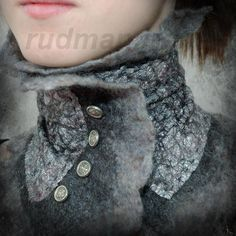❥ rudman irena~ www.rudmanart.com This is called felting,something I am just learning about, very cool!
