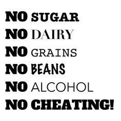 I would love to try this whole 30 for my sugar addiction...there's just one word on there that I'm not willing to give up!