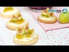 Receta de galletas de queso azul con higos. Receta de galletas / Receta con queso azul / Postres - YouTube