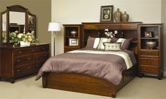 Amish Covington Bed with Pier Wall and Platform
