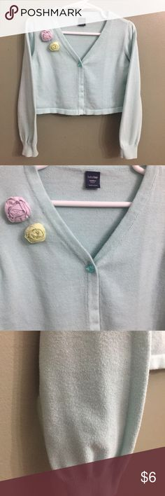 Baby Gap Cardigan w/Floral accent, 5T Baby Gap Cardigan w/Floral accent, 5T; VGUC, normal wash wear. GAP Shirts & Tops