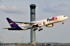 FedEx Express Boeing 777F Takeoff at Paris Airport