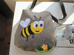 A Bee bag   winter  bag by Carapica on Etsy, €30.00