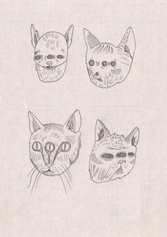 Mačky - Cats / E- Zine by Barbora Idesová, via Behance
