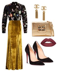 """Premiere night 👀"" by akcabeyza on Polyvore featuring moda, Galvan, River Island, Christian Louboutin ve Dolce&Gabbana"