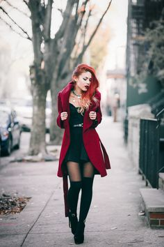"""Burgundy Love – LE HAPPY Pinned onto Style MeBoard in Street Style Category""""}, """"http_status"""": window. Fashion 90s, Tokyo Street Fashion, Grunge Fashion, Gothic Fashion, Fashion Outfits, Womens Fashion, Style Fashion, Fashion Clothes, Pop Punk Fashion"""