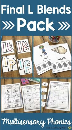 This Blends pack for Final L Blends has the multisensory phonics materials you need to teach Final L Blends. It is suitable for reading intervention and Orton-Gillingham instruction. The Literacy Nest Phonics Chart, Phonics Worksheets, Reading Assessment, Reading Intervention, L Blends, Phonemic Awareness Activities, Teaching Techniques, Spelling Activities, Teaching Phonics
