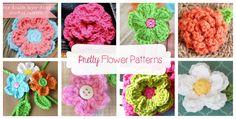 Beautiful FREE! flower crochet patterns by Daisy Cottage Designs.