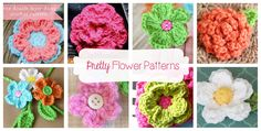 Beautiful FREE! flower crochet patterns by Daisy Cottage Designs.