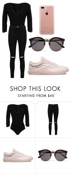 """Outfit To Wear"" by bethany-franco on Polyvore featuring Elisabetta Franchi, Boohoo, Vans, Illesteva and Belkin"