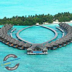 Se você vai se casar não deixe de consultar nossos pacotes exclusivos para Lua de Mel! Na foto o Taj Exótica Resort & Spa localizado nas Maldivas... Nada mal né?