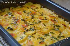 Oggi una ricetta che adoro tantissimo perché squisita e facile da preparare: lo sformato di riso e patate! Questo piatto è davvero ricco.