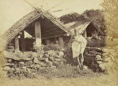 Kota Temples and a Priest at Kotagiri in the Nilgiri Hills in Tamil Nadu - 1871