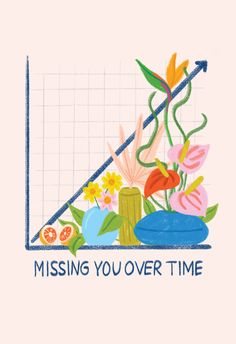 Missing You Over Time - Love Card #greetingcards #printable #diy #mothersday