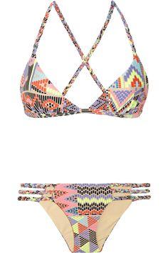 Mara Hoffman Maya Printed Triangle Bikini in Multicolor (multicolored) | Lyst  $195