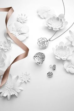 PANDORA's timeless shimmering rose set is a dazzling symbol of love and compassion. #PANDORAnecklace #PANDORAring #PANDORAearrings