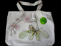 Reusable Cloth Bag by Laladiva.Hand painted.Cloth Bags Collection 2012. http://complementoslaladiva.com/