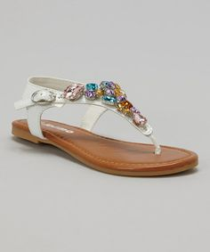 Another great find on #zulily! White Gem Sandal by Josmo #zulilyfinds