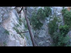 "‎""El Camino del Rey is a walkway that winds its way along the walls of El Chorro, a gorge in southern Spain near the village of Álora. It is generally considered one of the most dangerous hikes in the world. After several fatal accidents, authorities officially closed the path in 2000. But there are still daring hikers who manage to get around the barriers and make their way across the gorge."