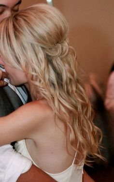 Wedding Hair - Half-up Wavy