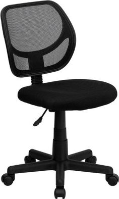 Flash Furniture WA-3074-BK-GG Mid-Back Black Mesh Task and Computer Chair Flash Furniture - $45.99