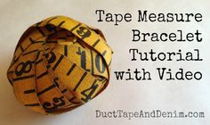 Tape measure bracelet tutorial with video.  DIY idea for jewelry, crafts, repurposed and upcycled gifts.  | DuctTapeAndDenim.com