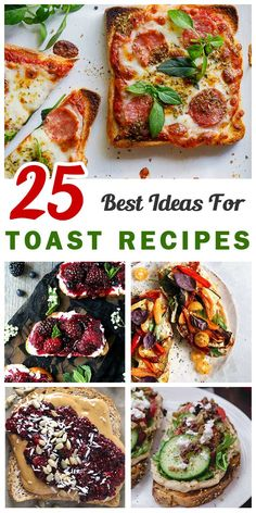 Often rush out of the door with some toasts on hand? There is a simple solution. - MY Recipes - Toast Breakfast Recipes, Dinner Recipes, Breakfast Ideas, Fancy Pizza, Best Toasts, Sandwiches, Cooking Recipes, Healthy Recipes, Quick Meals