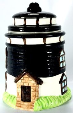 Lighthouse Decorative Ceramic 6-3/4-inch Cookie Candy Jar / Pet Treat Jar $14.99
