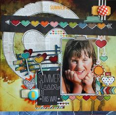 Love the use of chipboard from A2z Scraplets wonderful designers!