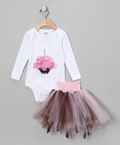 Take a look at this Pink Cupcake Bodysuit & Tutu - Infant & Girls by Cute as Cupcakes: Apparel & Accessories on #zulily today!