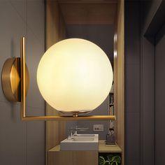 Aliexpress.com : קנו מודרני מנורת קיר פמוט זכוכית כדור Luminaire אור Abajur עבור חדר שינה חדר אמבטיה אור Luminaria E27 בסיס בית תאורת Lamparas מספקי אור עד מרטיני זכוכית אמינים בOCT Lighting Co.,Ltd