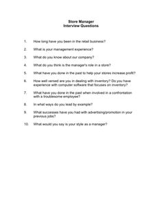 Assistant Manager Interview Questions Cool Top 7 Store Manager Interview Questions Answers  Tommy  Pinterest .