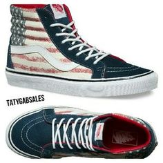 I just discovered this while shopping on Poshmark: Vans Americana SK8-Hi Reissue US Flag. Check it out! Price: $65 Size: Various