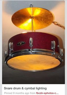 Repurposed Drum and cymbal light