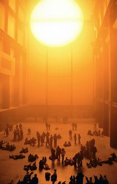 olafur eliasson. Light art installation. Tate Modern